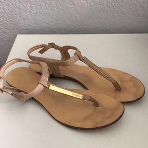 Light pink Calvin Klein sandals - Size 7